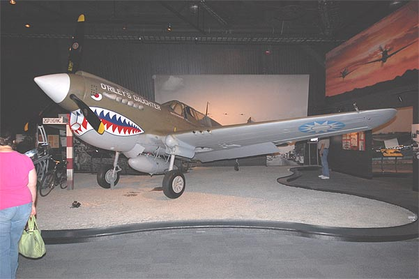 Museum of Flight(Boeing Field)で撮影したP-40E